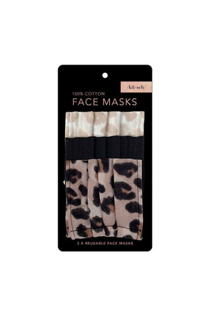 Kitsch Face Mask- Leopard - BluePeppermint Boutique