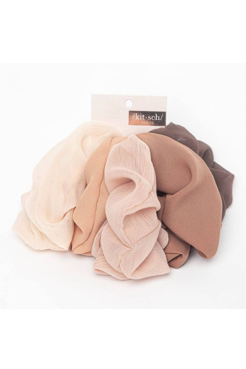 Kitsch Crepe Scrunchies 5pc - BluePeppermint Boutique