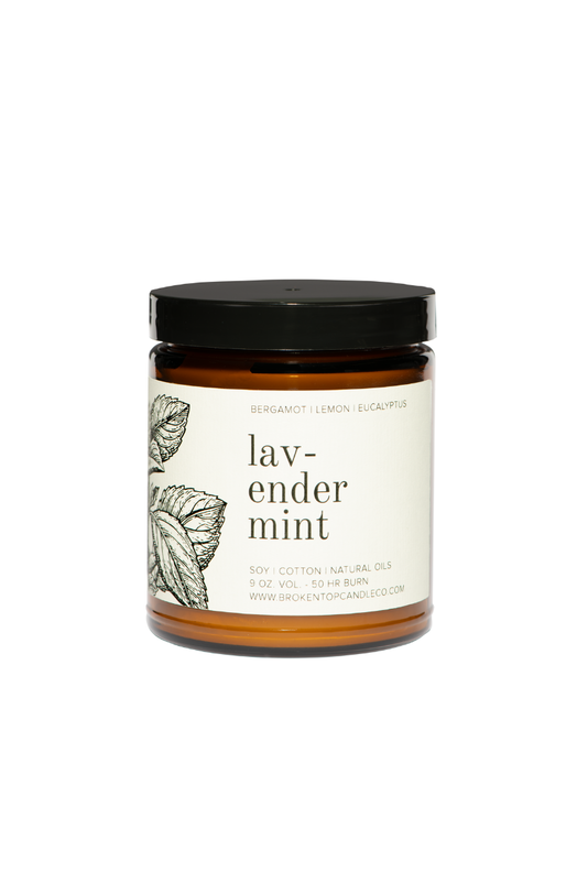Lavender Mint- 9 oz. Soy Candle - BluePeppermint Boutique