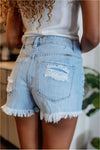 Hazel High Rise Fray Hem Shorts - BluePeppermint Boutique