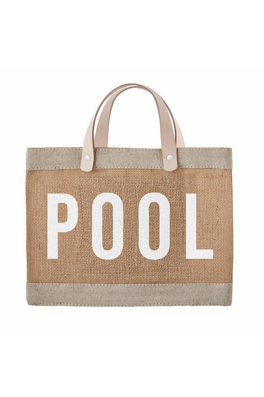 Mini Market Tote - Pool - BluePeppermint Boutique