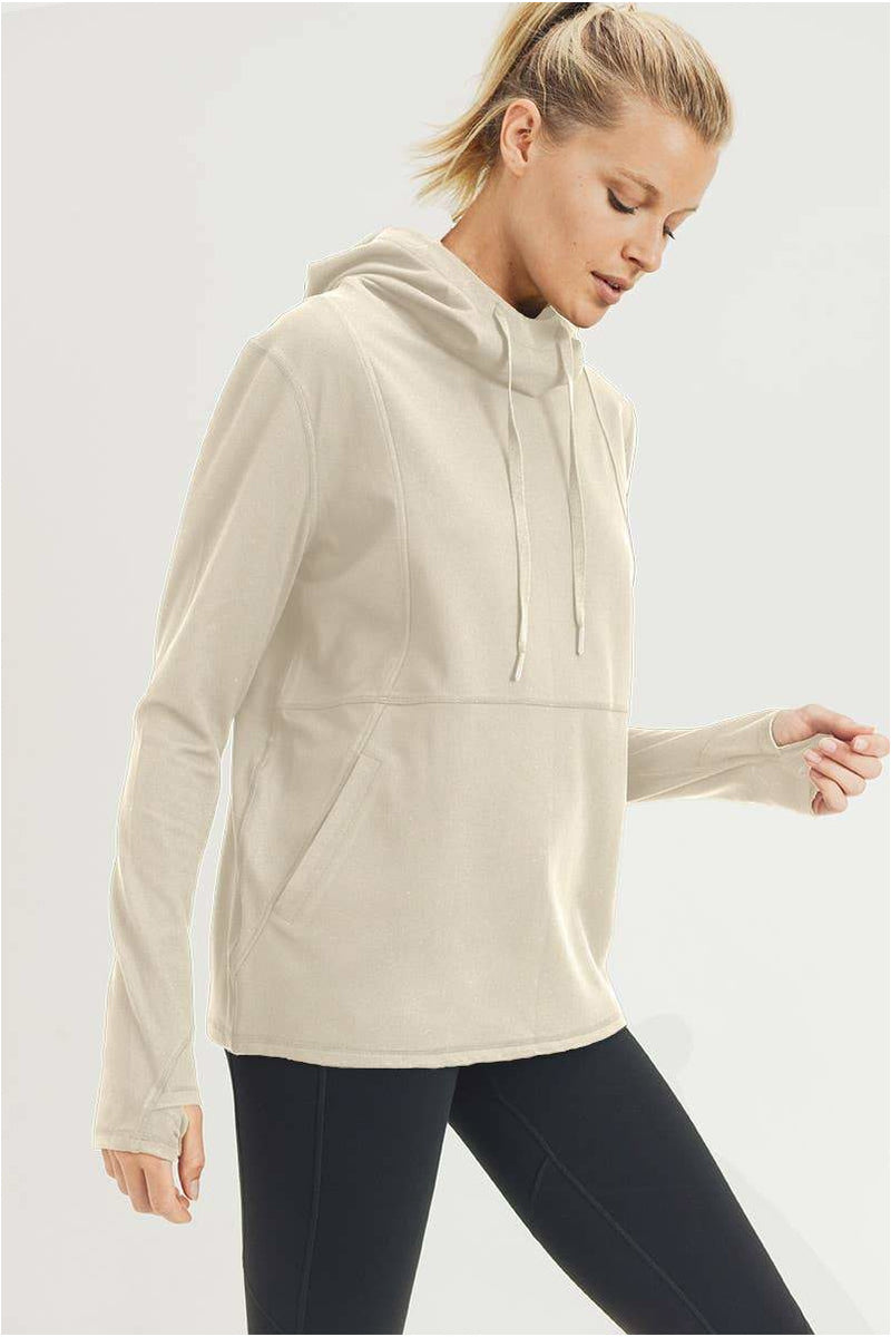 Mono B GREEN Boxy Active Essential Hoodie Pullover - BluePeppermint Boutique