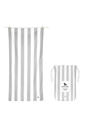Dock & Bay Cabana Collection Towel-Goa Grey - BluePeppermint Boutique