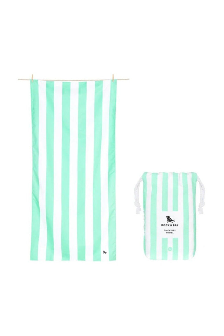 Dock & Bay Cabana Collection Towel-Narabeen Green - BluePeppermint Boutique