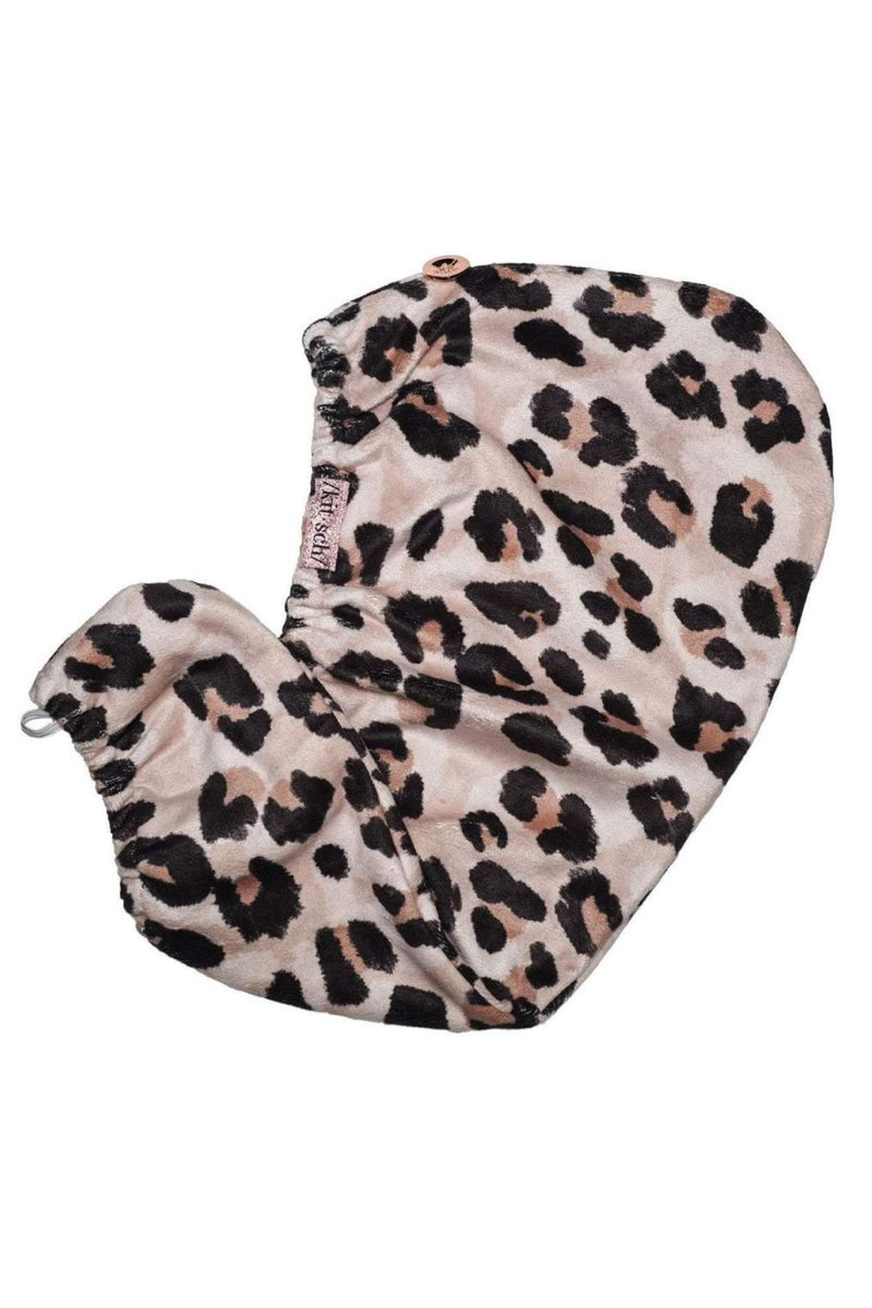 Kitsch Microfiber Hair Towel-Leopard - BluePeppermint Boutique
