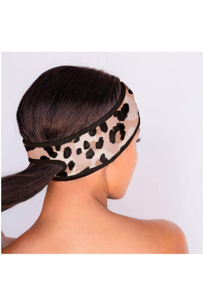 Microfiber Spa Headband-Leopard - BluePeppermint Boutique