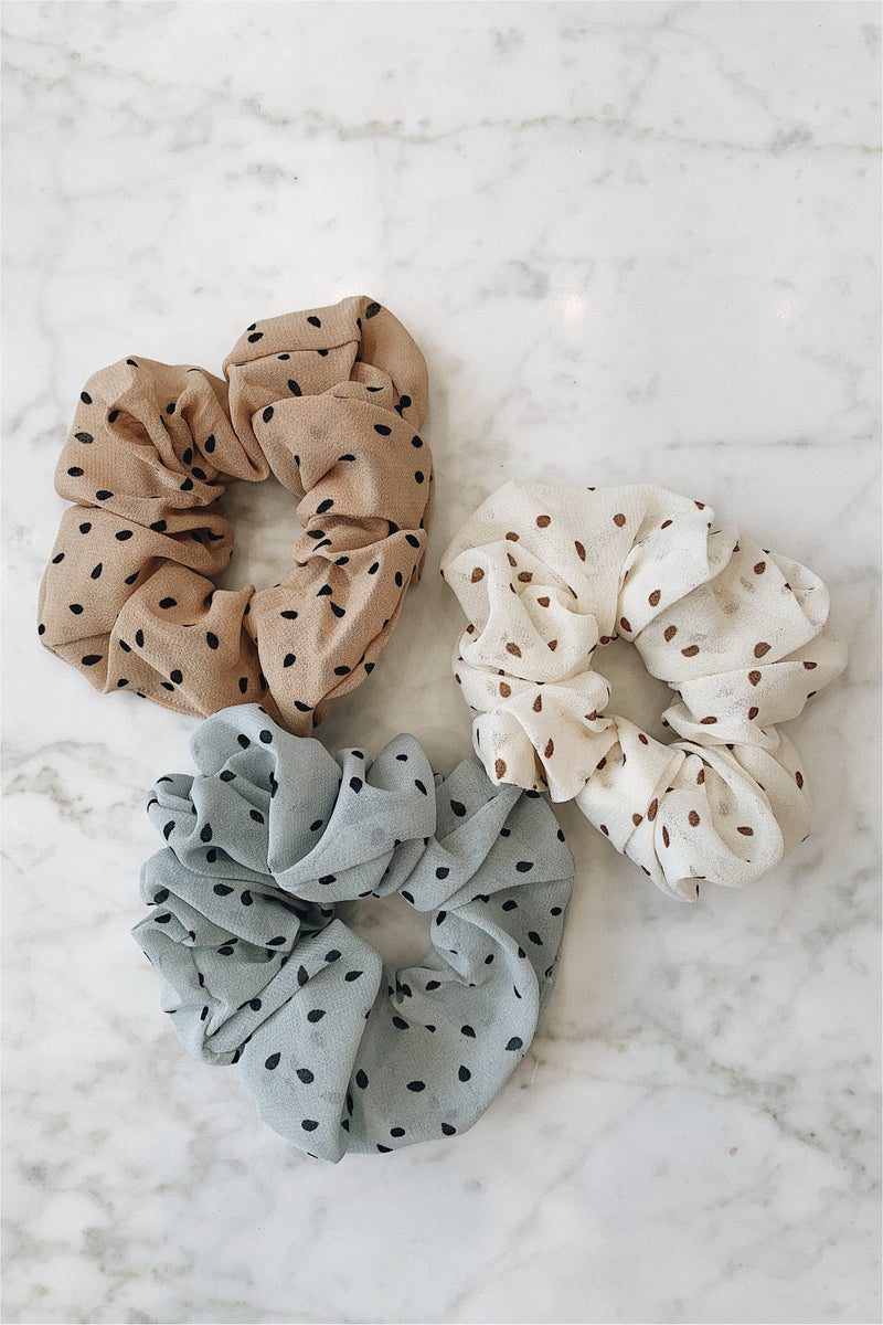 Set of 3 Scrunchies - Polka Dot
