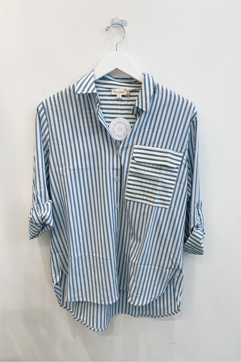 Mixed Colors Stripe Shirt - BluePeppermint Boutique