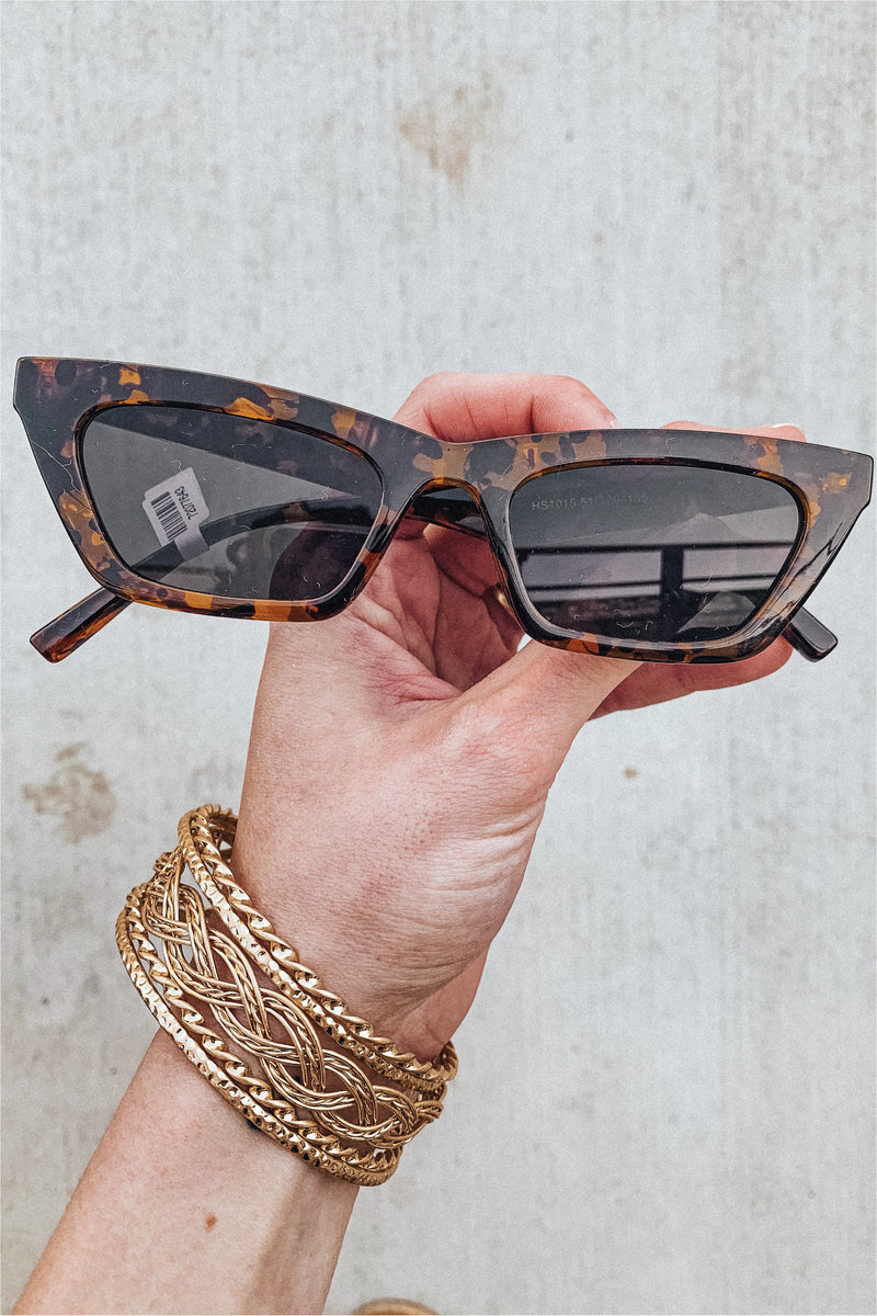 Carly Retro Sunglasses-Tortoise - BluePeppermint Boutique