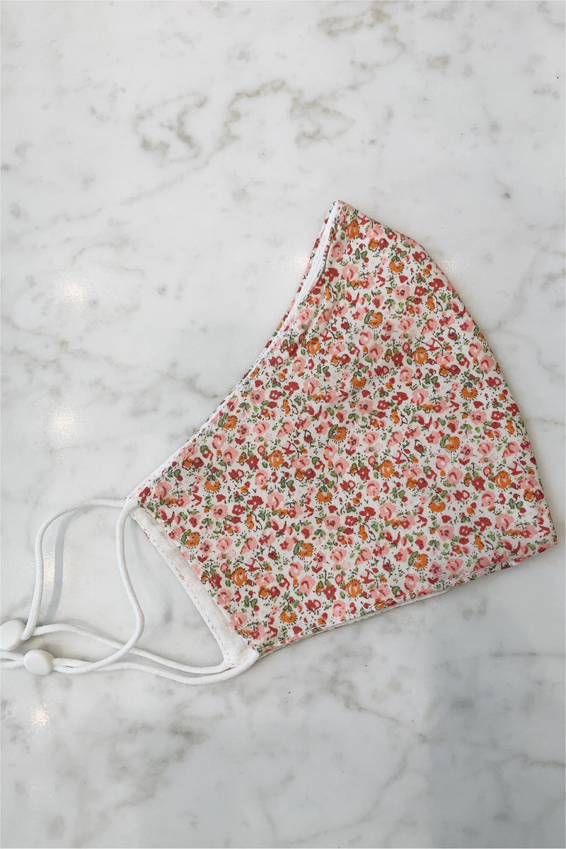 Fabric Face Mask - Pink Floral