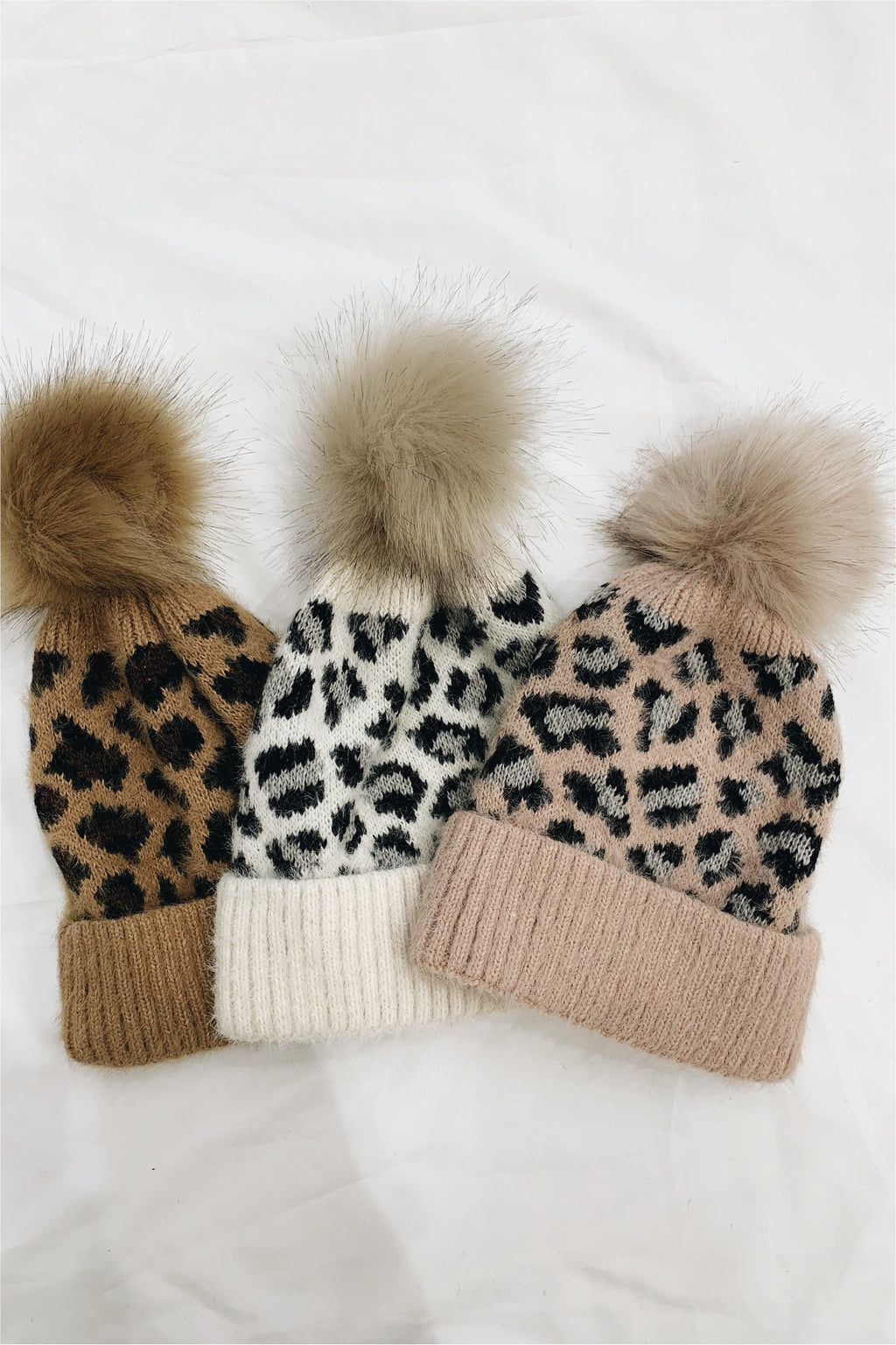 Leopard Ultra Soft Knit Beanie - BluePeppermint Boutique