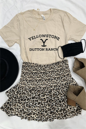 Yellowstone Dutton Ranch Tee-Cream - BluePeppermint Boutique