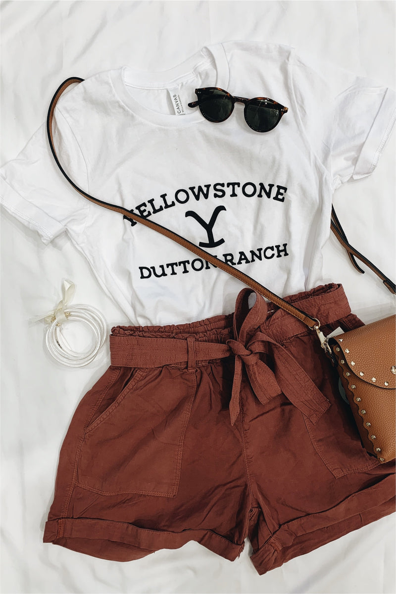 Yellowstone Dutton Ranch Tee-White