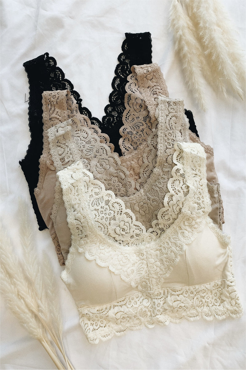 Soft Scalloped Lace Bestselling Bralette - BluePeppermint Boutique