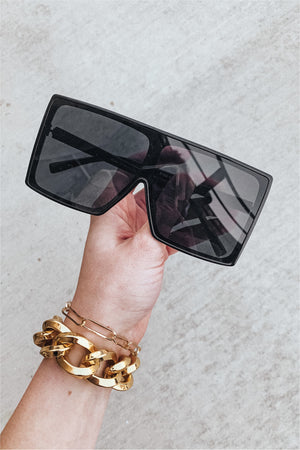 Shannon Hollywood Sunglasses-Black - BluePeppermint Boutique