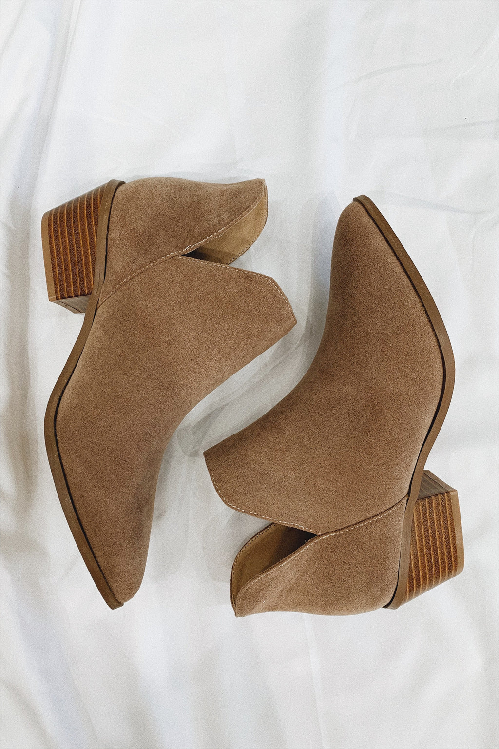 Taupe Side Cut Bootie - BluePeppermint Boutique