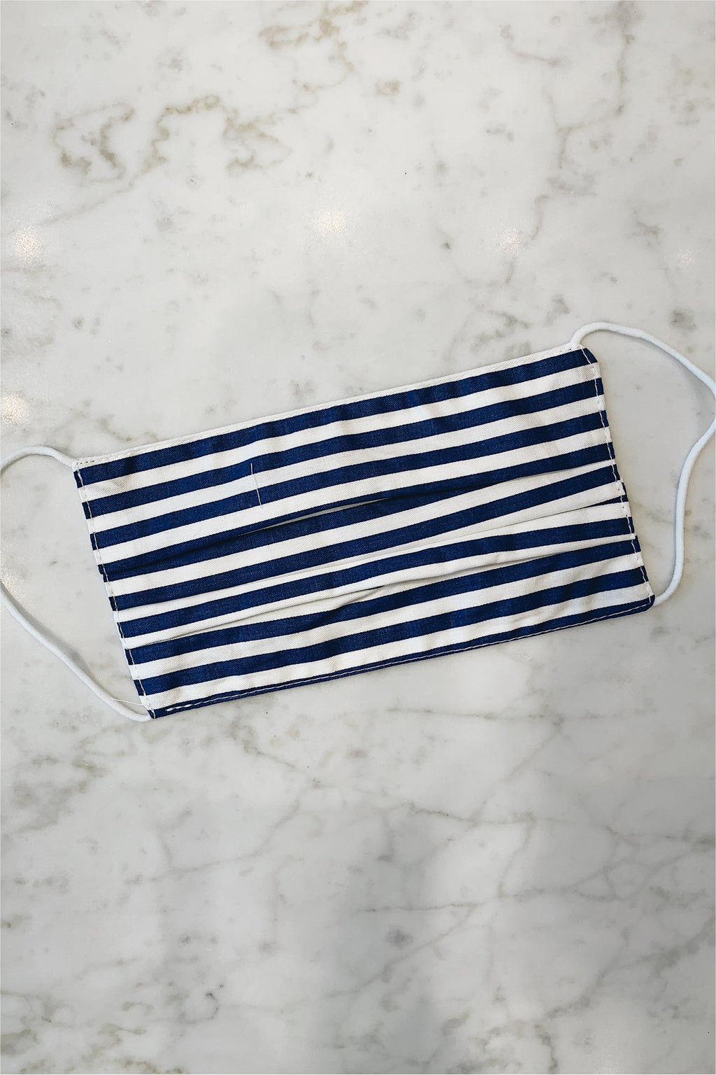 Fabric Face Mask - Navy Stripe