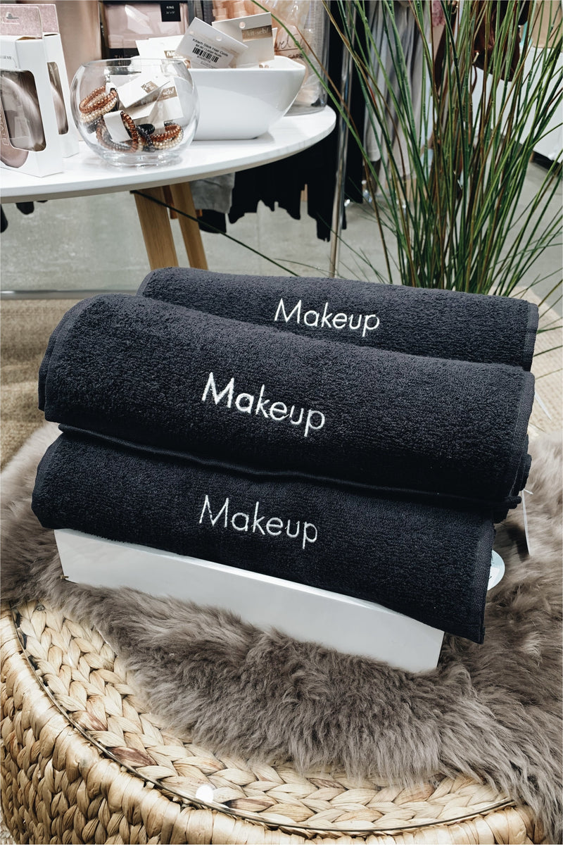 Makeup Remover Black Towels (Set of 6) - BluePeppermint Boutique