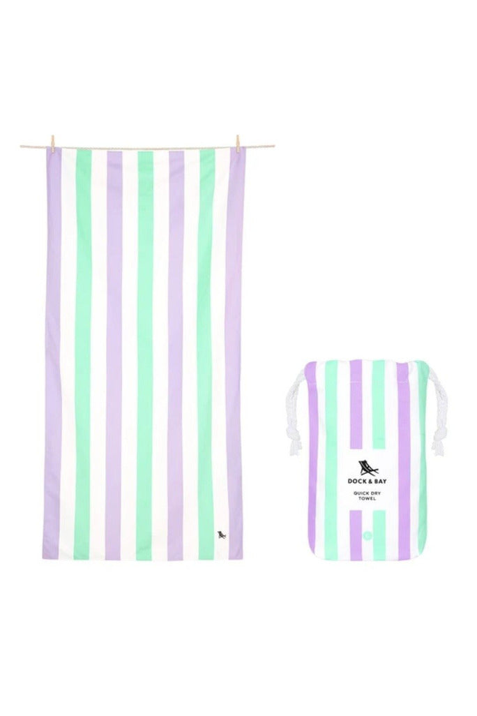 Dock & Bay Summer Collection Towel- Lavender Fields - BluePeppermint Boutique