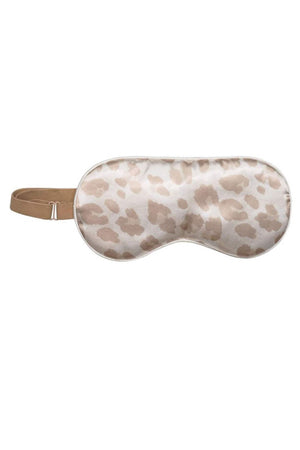 Satin Eye Mask- Leopard - BluePeppermint Boutique
