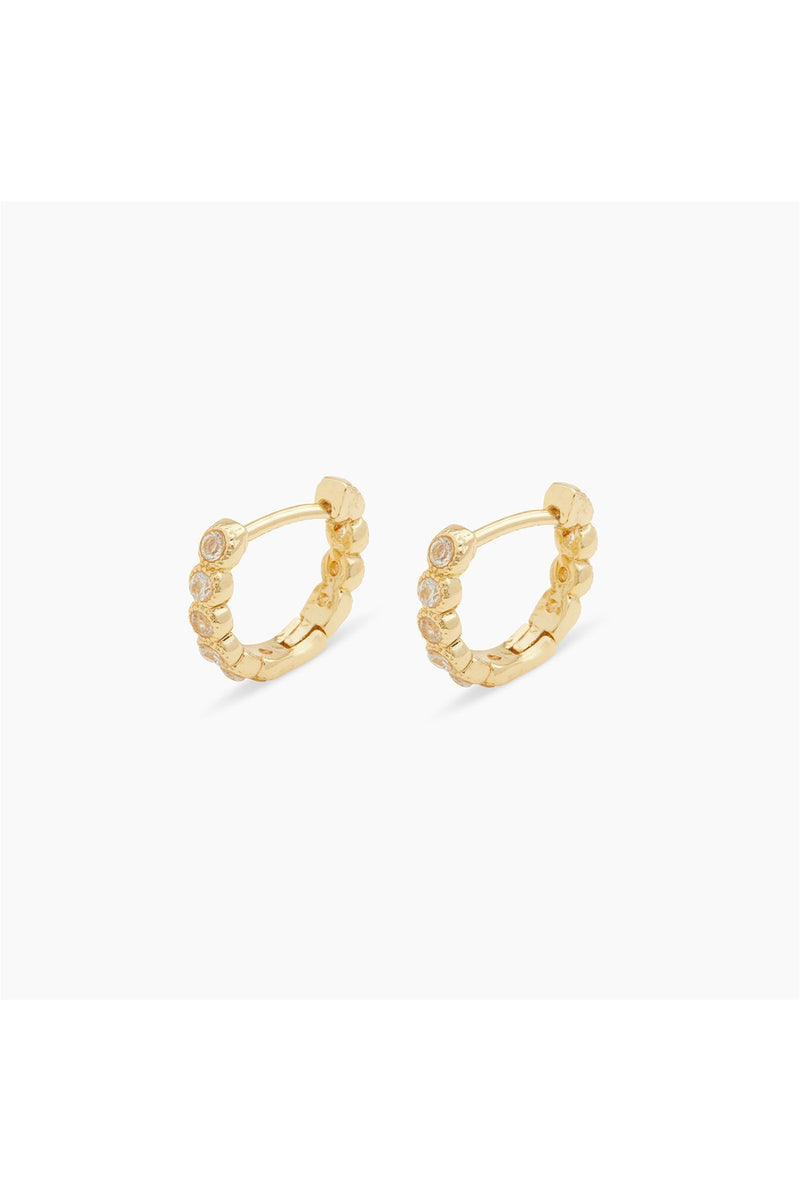 Gorjana Madison Shimmer Huggie Hoop Earrings - BluePeppermint Boutique