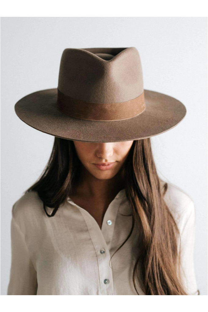 Gigi Pip Miller Fedora - Brown - BluePeppermint Boutique