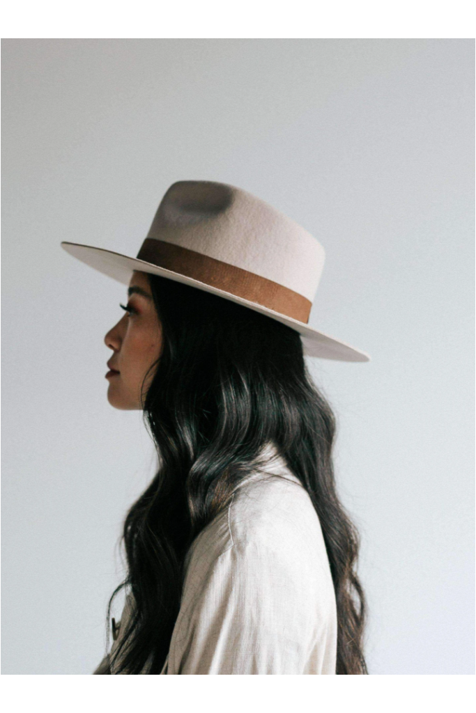 Gigi Pip Miller Fedora - Ivory - BluePeppermint Boutique