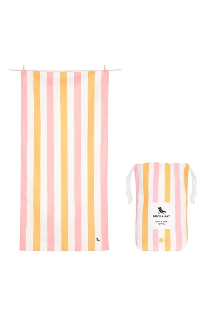 Dock & Bay Summer Collection Towel-Peach Sorbet - BluePeppermint Boutique