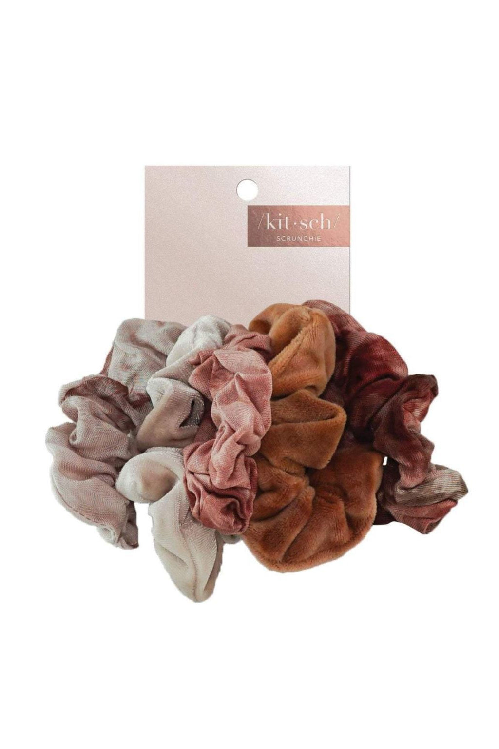Kitsch Scrunchies- Rust Tie Dye - BluePeppermint Boutique