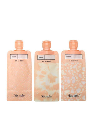 Kitsch Refillable Travel Pouches-Blush - BluePeppermint Boutique