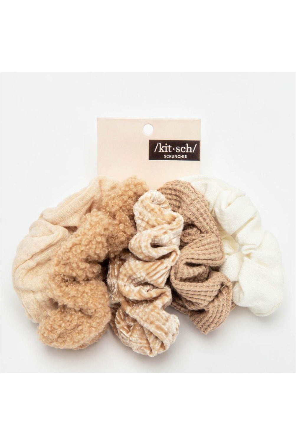 Kitsch Assorted Textured Scrunchies - BluePeppermint Boutique