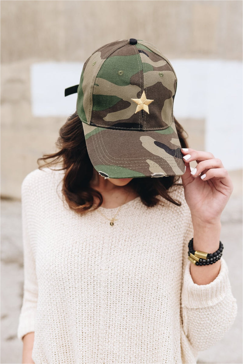Camo Hat Gold Star