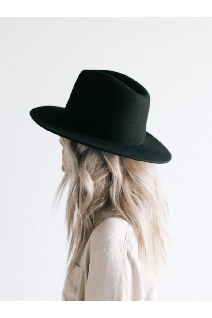 Gigi Pip Wes Fedora - Black - BluePeppermint Boutique