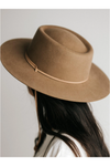 Gigi Pip Wren Round Top Hat - Brown - BluePeppermint Boutique