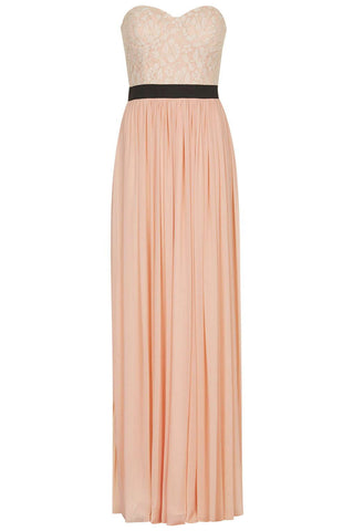 Light Champagne Chiffon Sleeveless Long Dress