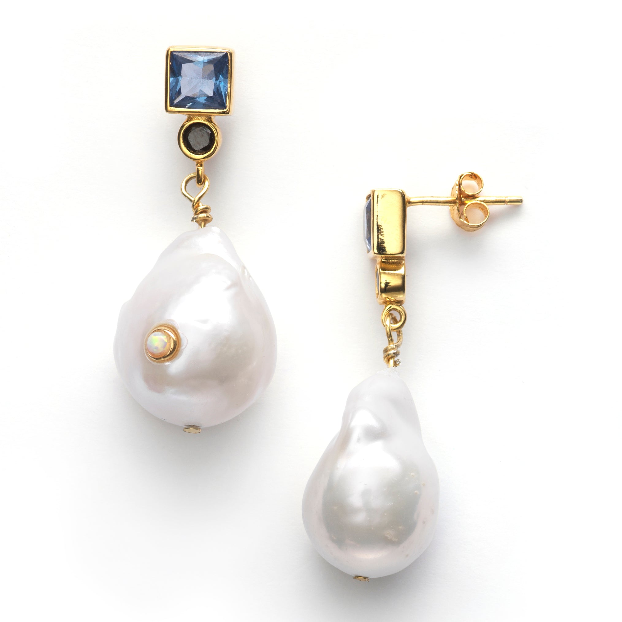 ANNI LU - BAROQUE PEARL BLING EARRINGS