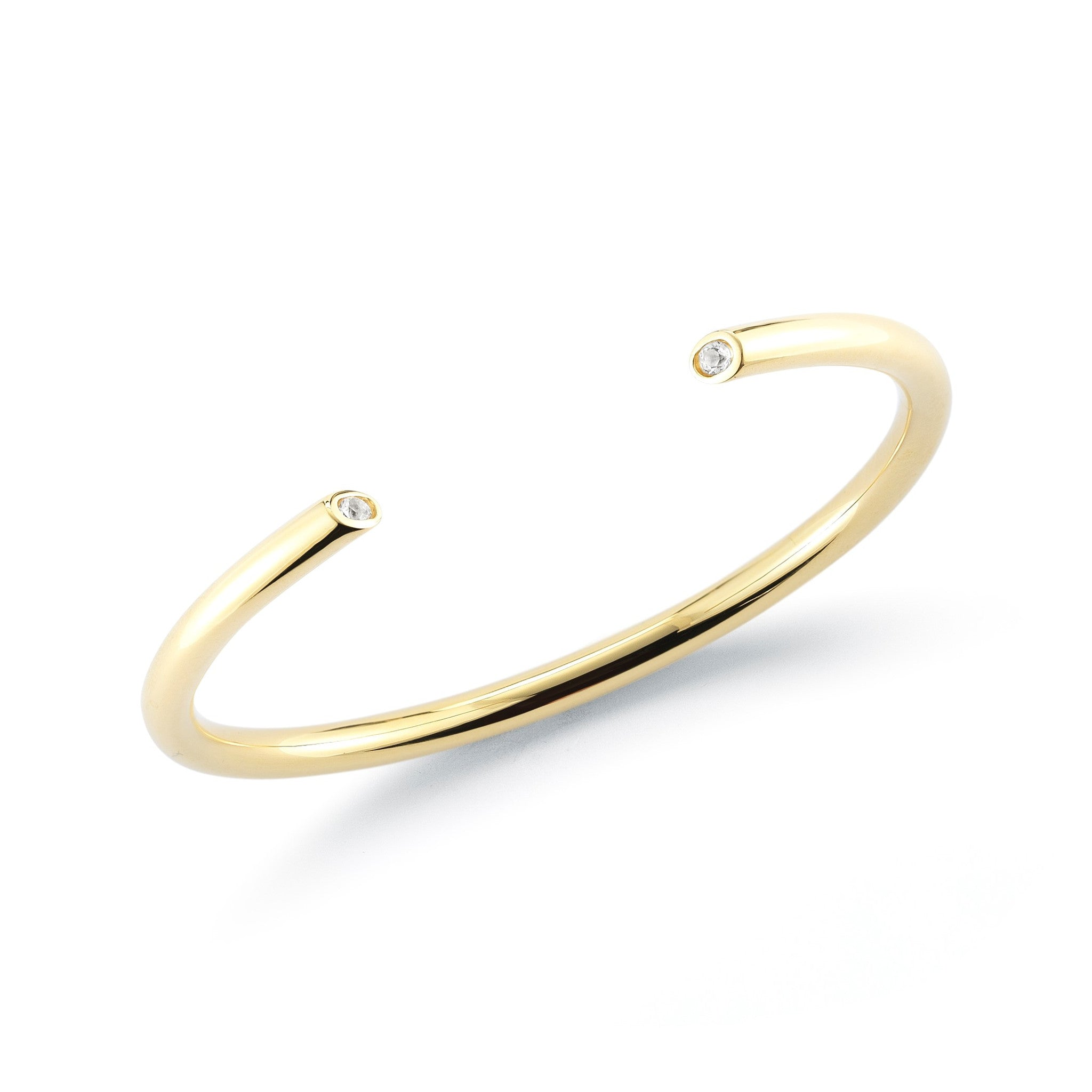 ELIZABETH AND JAMES - GOLD OBI BANGLE