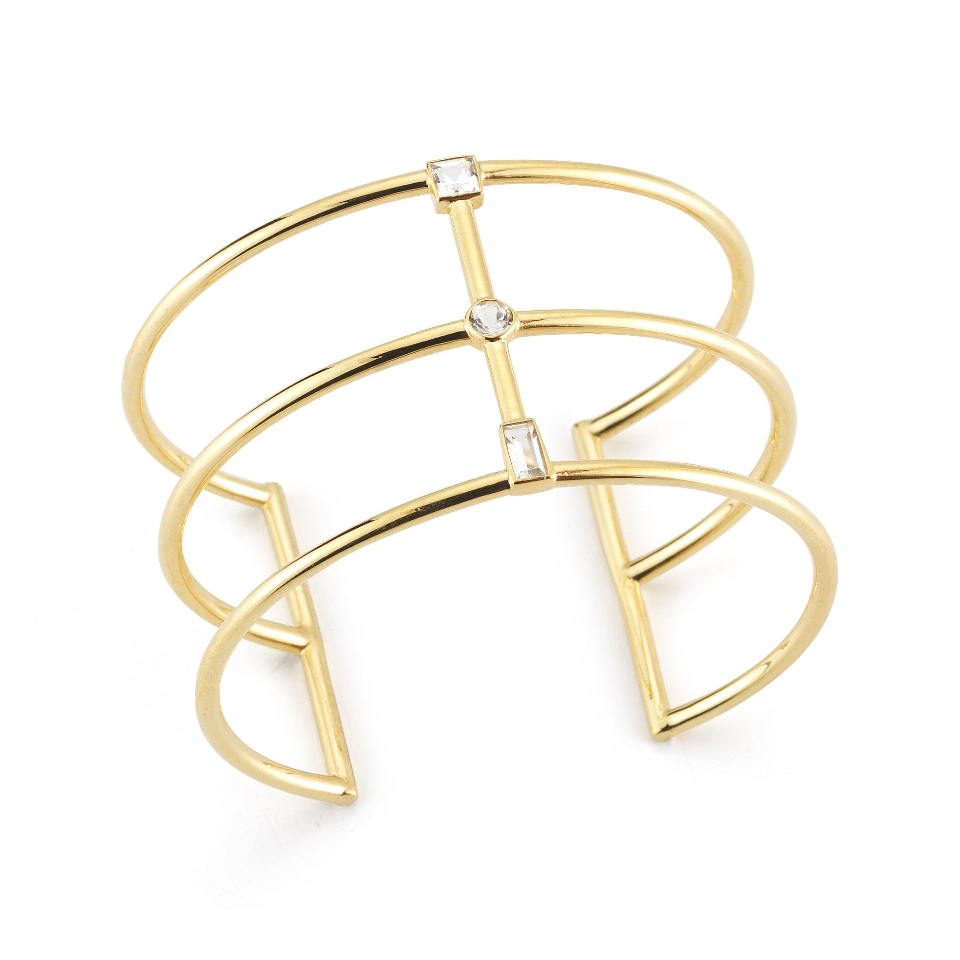 ELIZABETH AND JAMES - GOLD MONROE CUFF