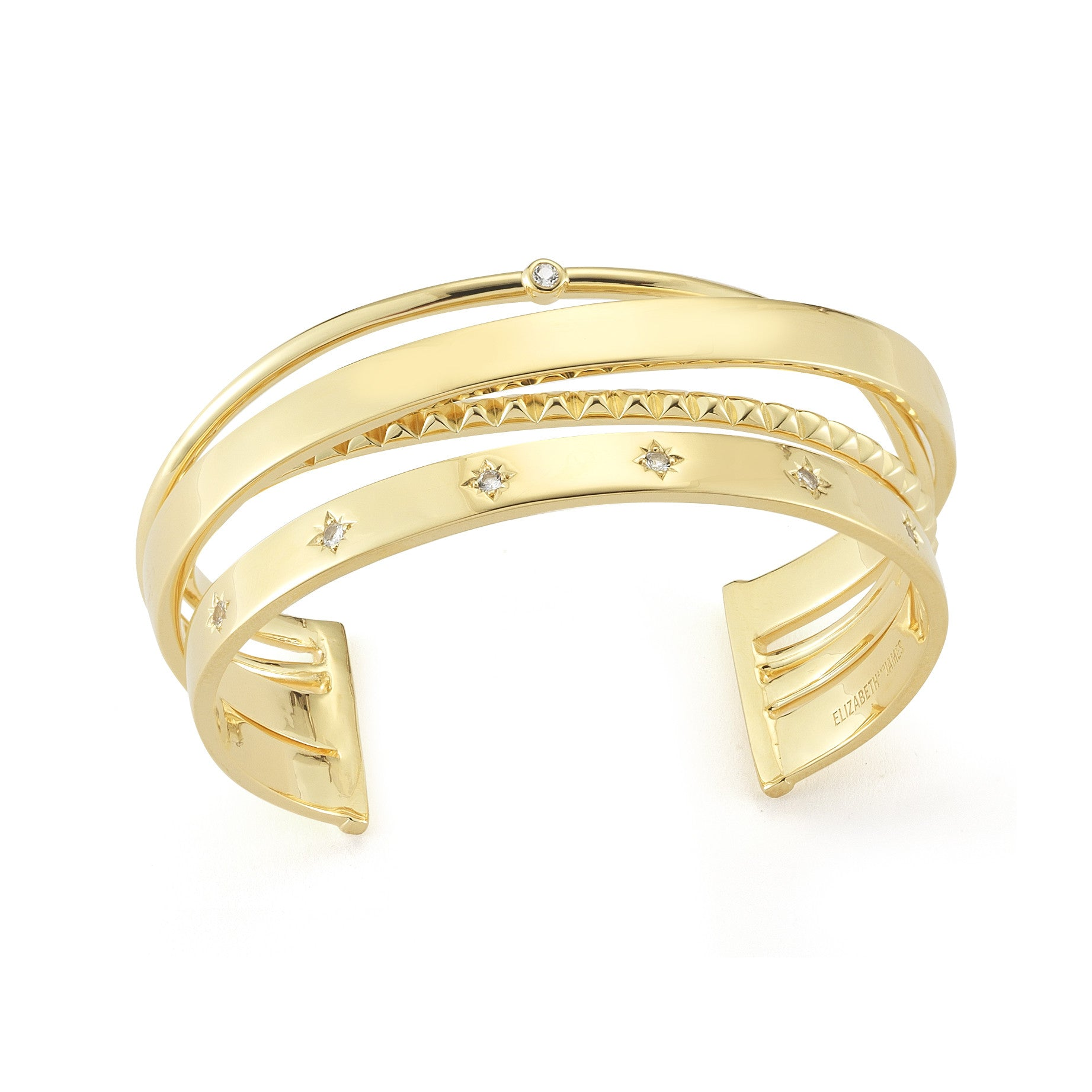 ELIZABETH AND JAMES - GOLD COSMIC CUFF