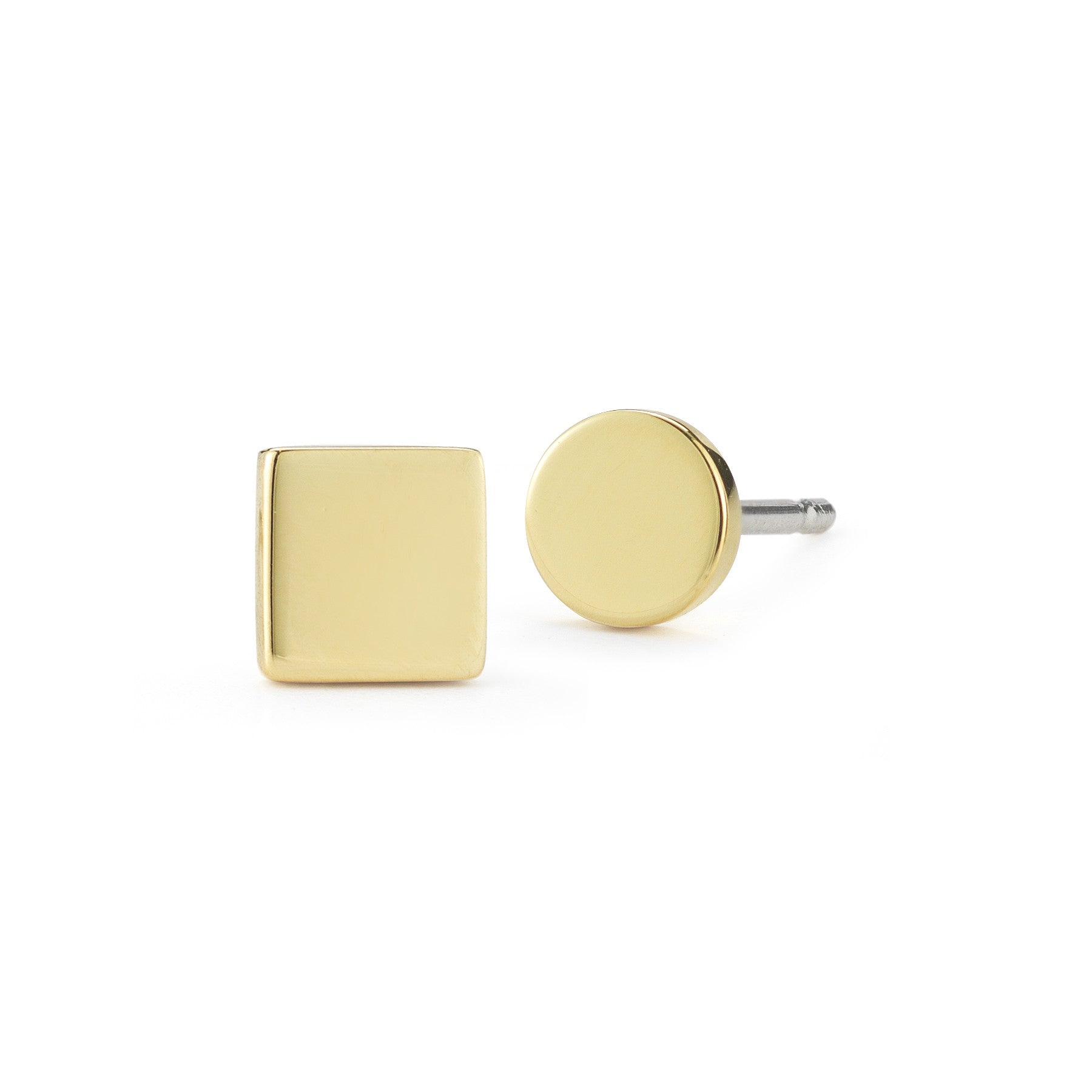 ELIZABETH AND JAMES - GOLD SERRA STUDS