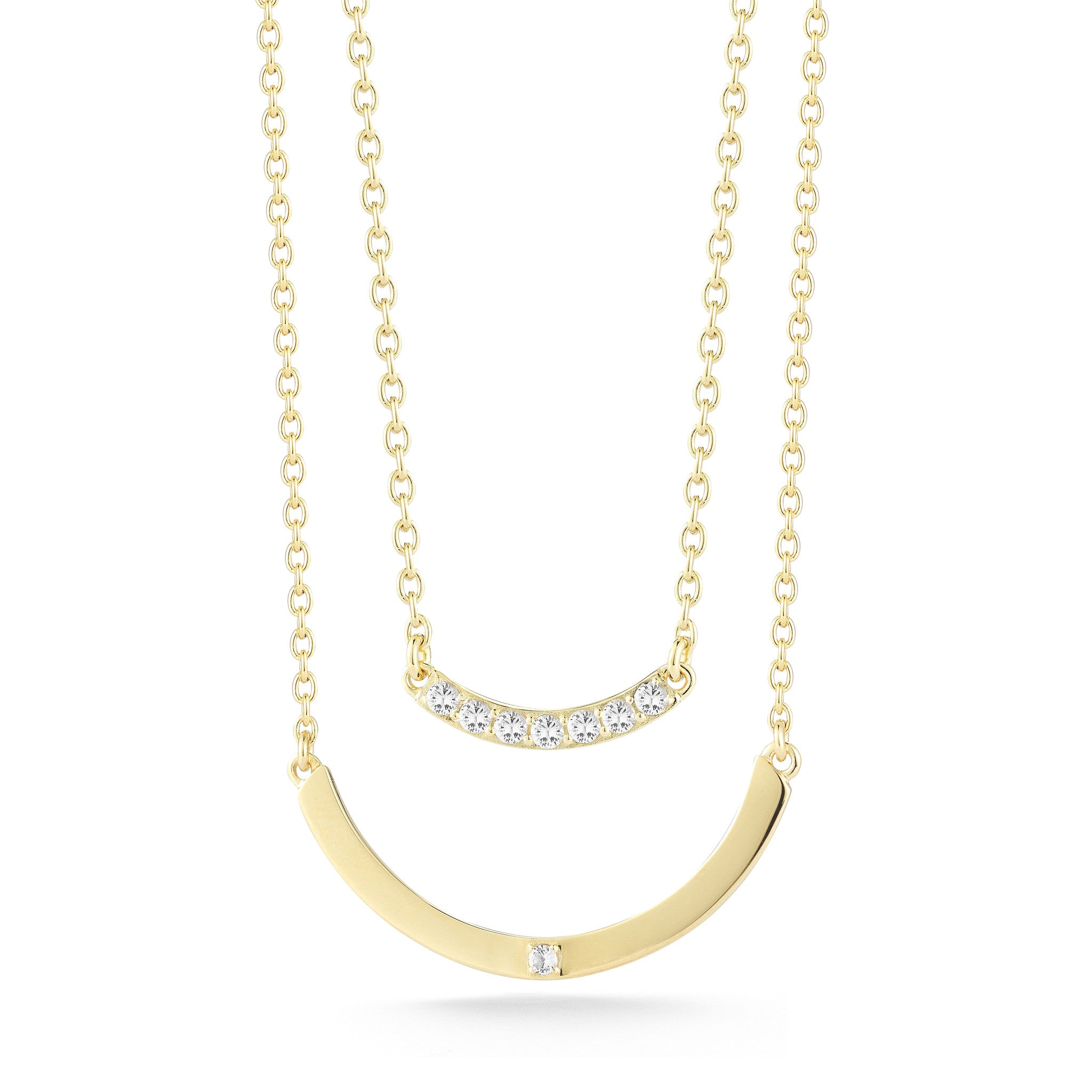 ELIZABETH AND JAMES - GOLD KLINT NECKLACE