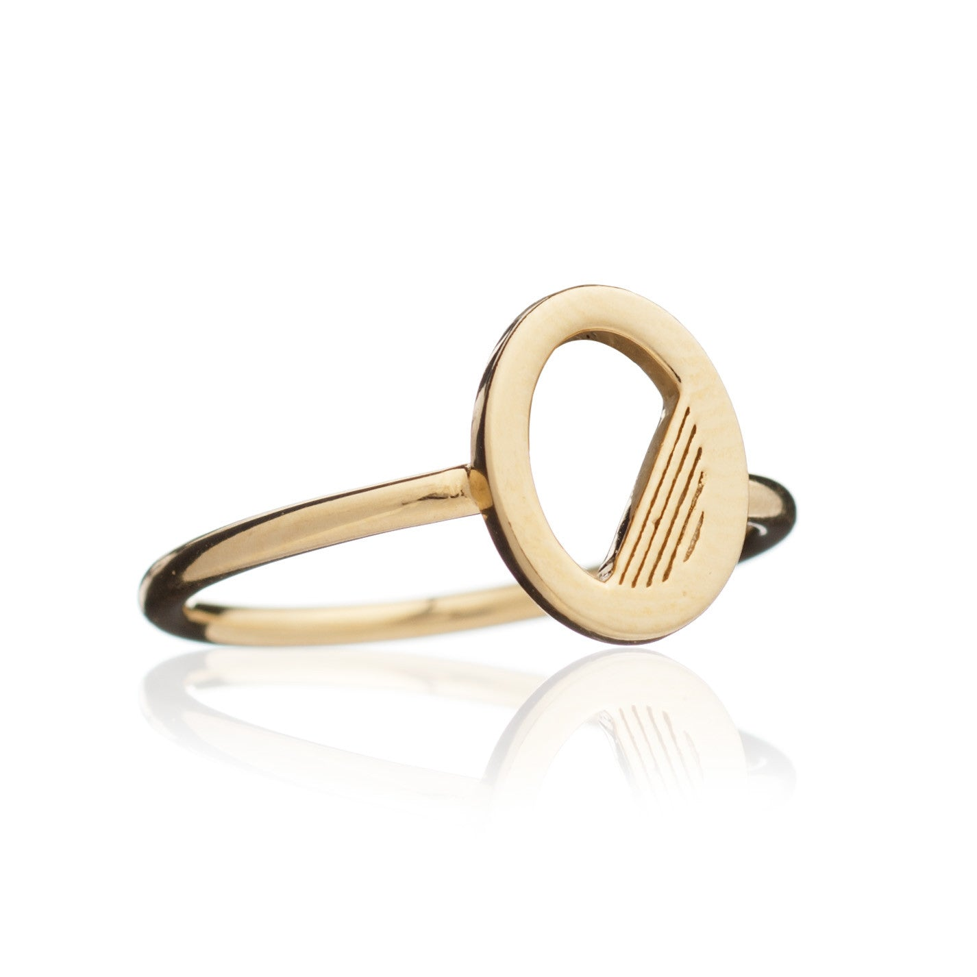 Rachel Jackson - Gold Deco Alphabet Ring