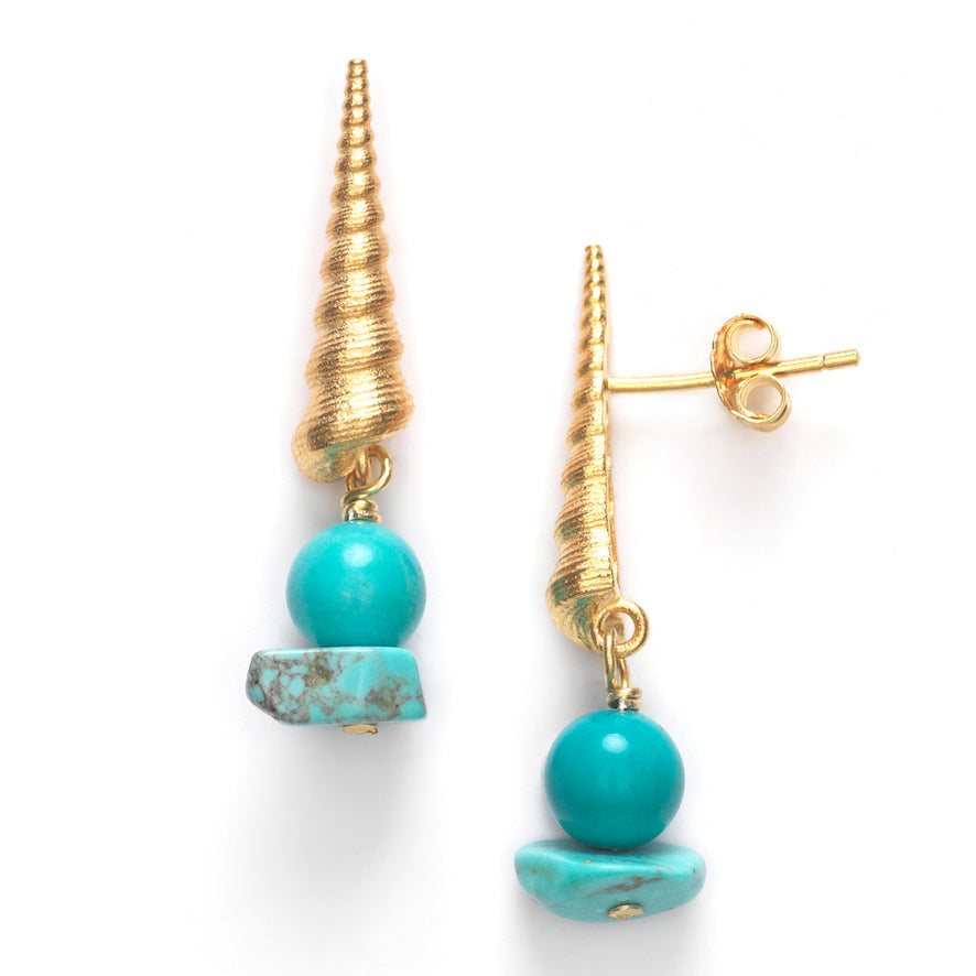 ANNI LU - TURRET SHELL EARRINGS