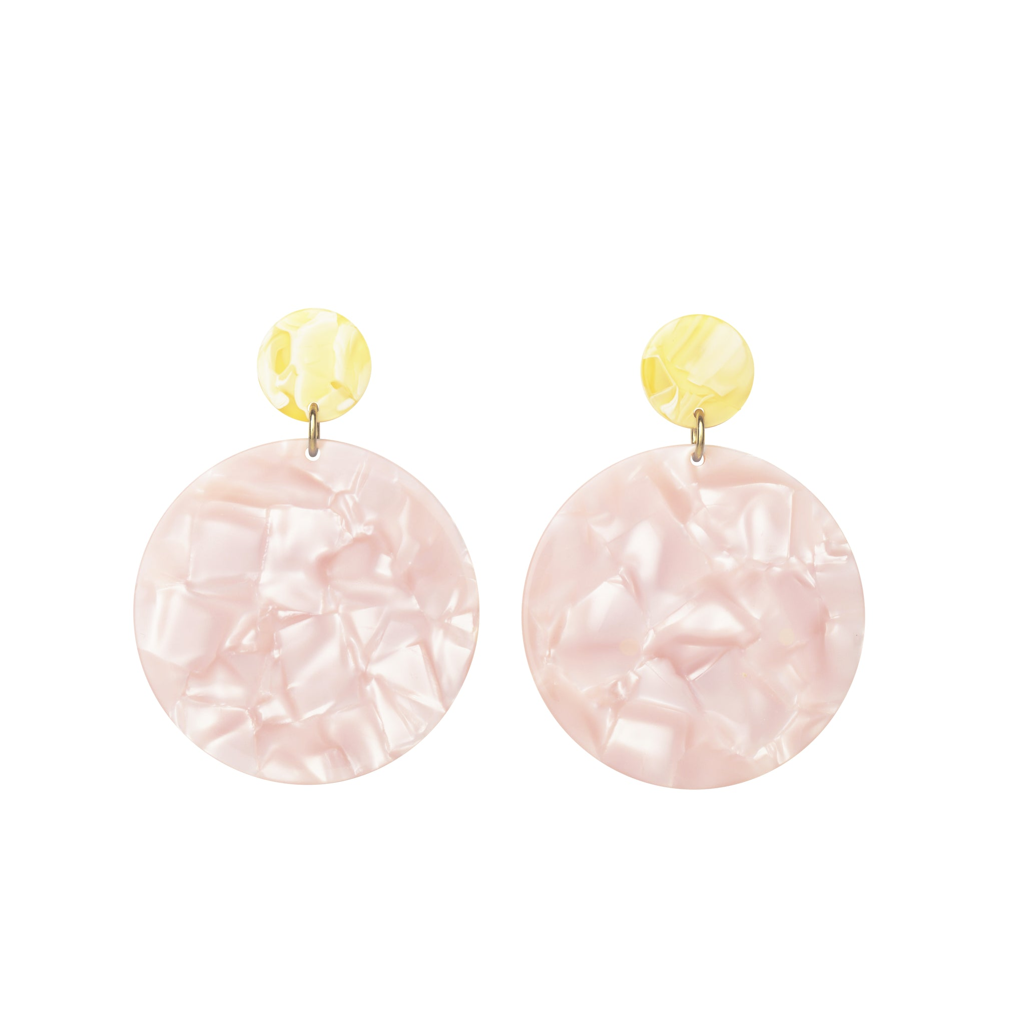 AYM - VANILLA/PINK ADDIE EARRINGS