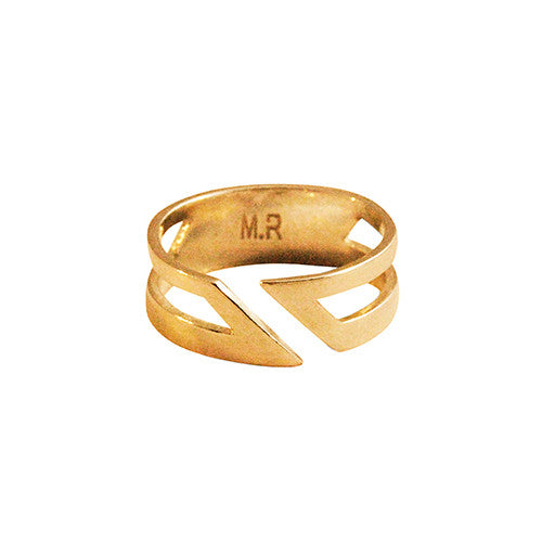 Mei-Li Rose - Adjustable Double Row Angle Ring