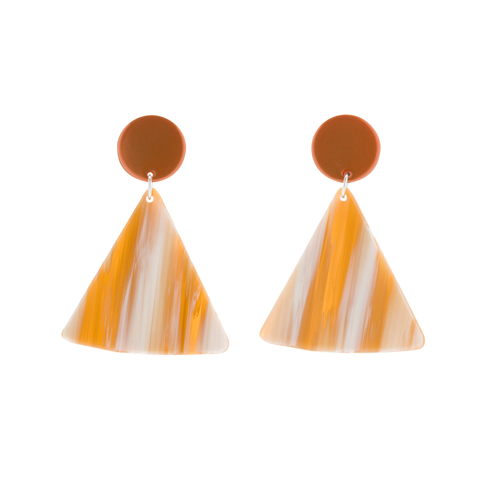 BIANCA MAVRICK - TANGELO CHIP EARRINGS