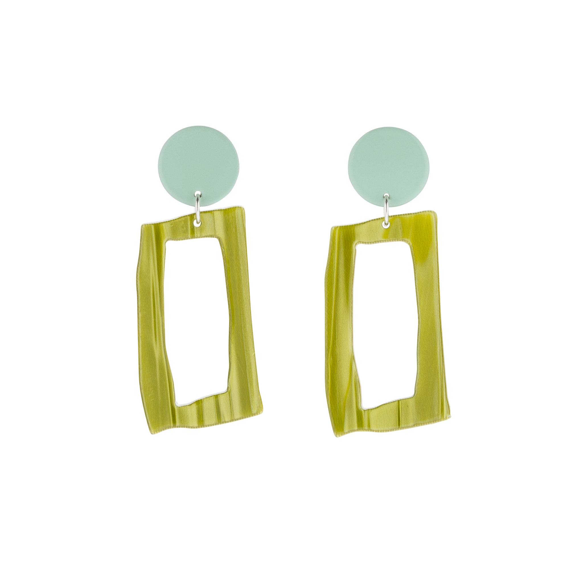 BIANCA MAVRICK - MINT FRAME EARRINGS