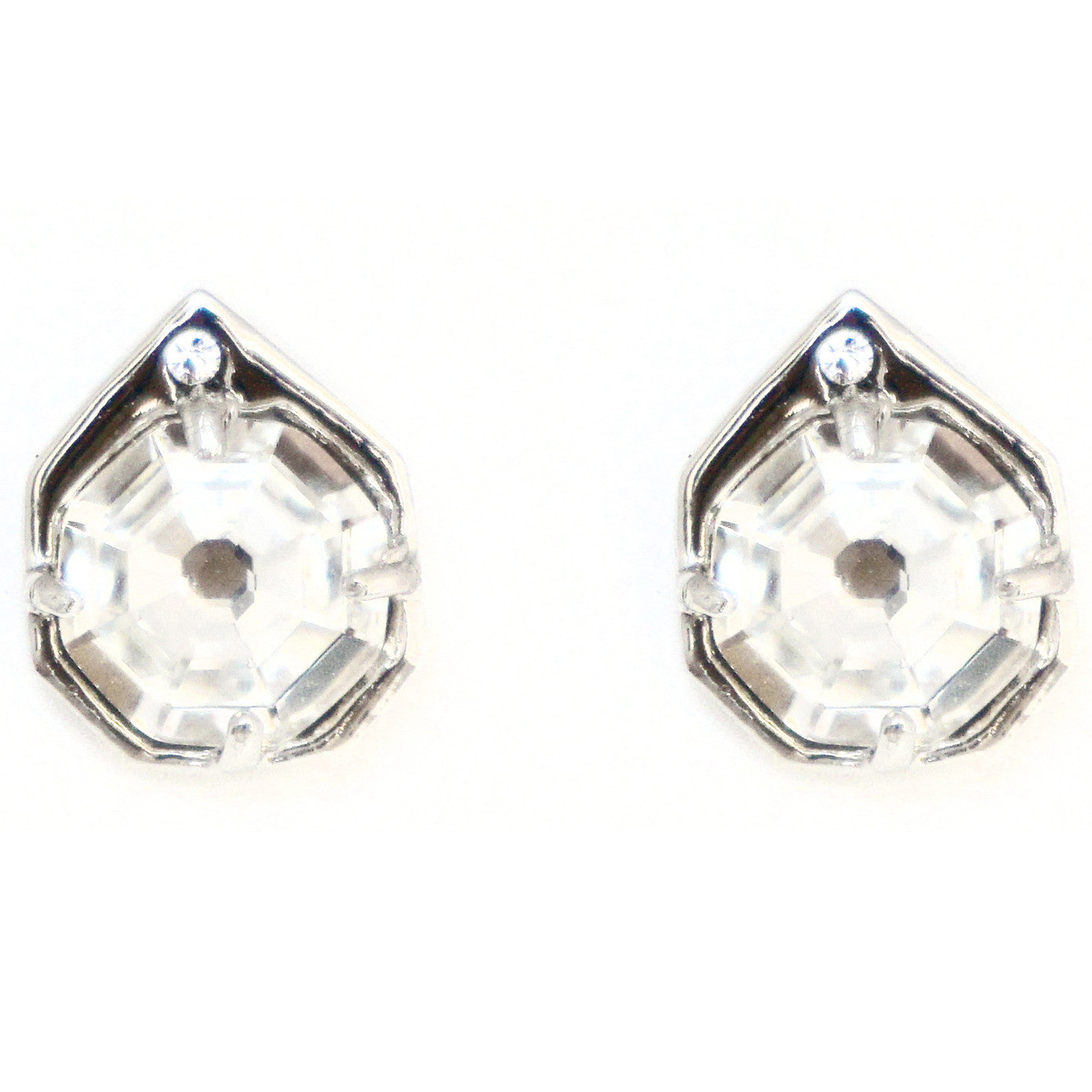 CAROLYN COLBY - SILVER ECLIPSE STUD EARRINGS