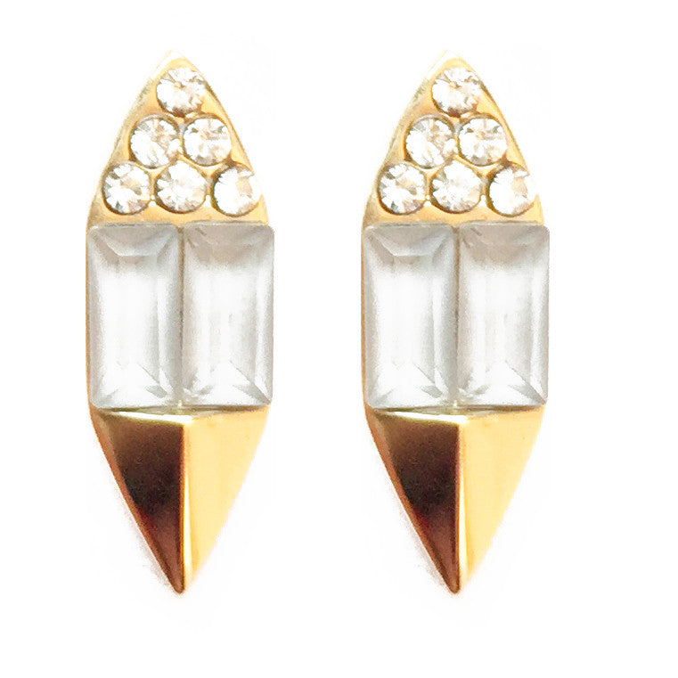 CAROLYN COLBY - GOLD SUNLIGHT STUD EARRINGS