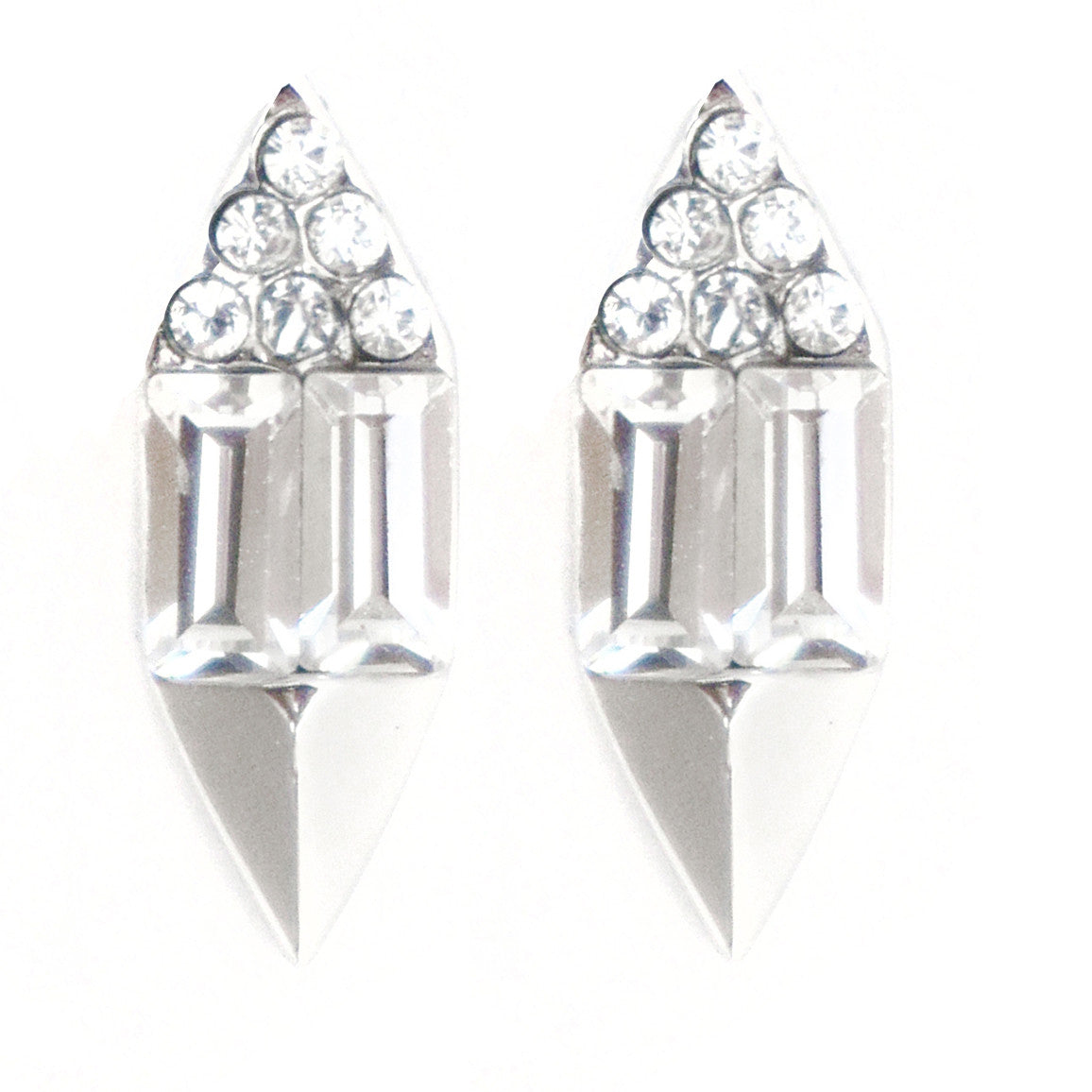 CAROLYN COLBY - SILVER SUNLIGHT STUD EARRINGS